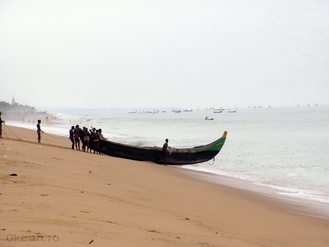 Керальские рыбаки выходят в море